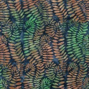Artisan Batik Fronds-blue