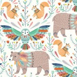 BOHO Animals white