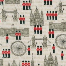 LONDON-Buildings patchwork textil