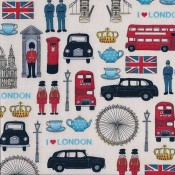 LONDON-Icons patchwork textil