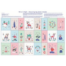 Merry & Bright Advent Bags panel