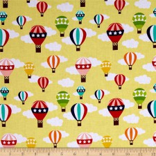 Lazy Day Ballon,sárga patchwork textil