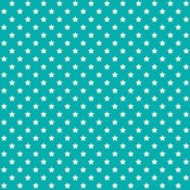 Star-turquoise patchwork textil